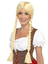 Bavarian Oktoberfest Blonde Plaits Wig